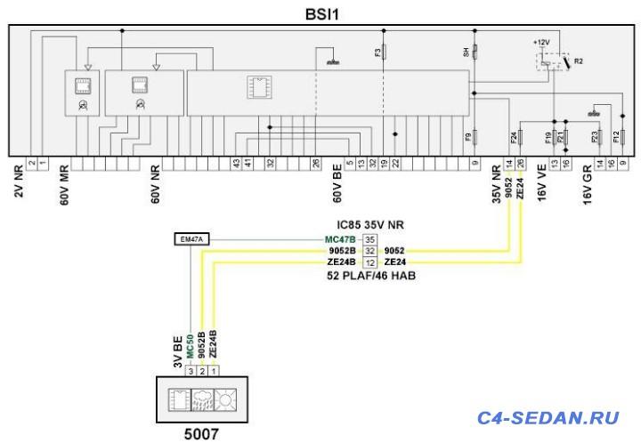 Схема подключения. BSI LIN индикации ремней - схема.JPG