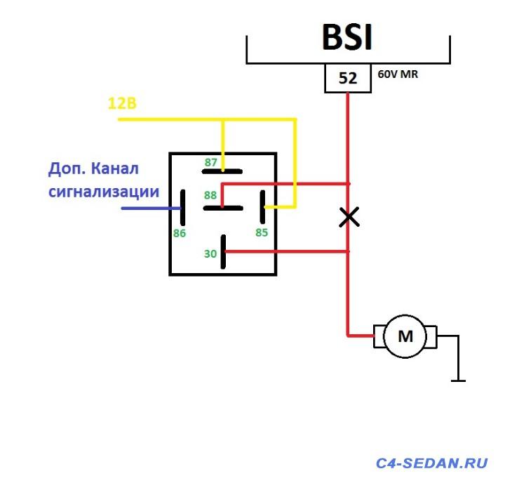 Сигнализации StarLine A B-xx - Доп реле багажник.jpg