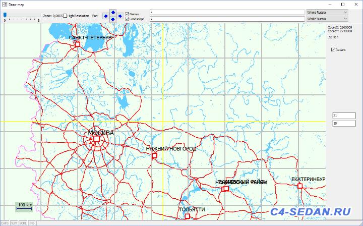 Европейская часть России на карте Whole Russia - Map_01.png