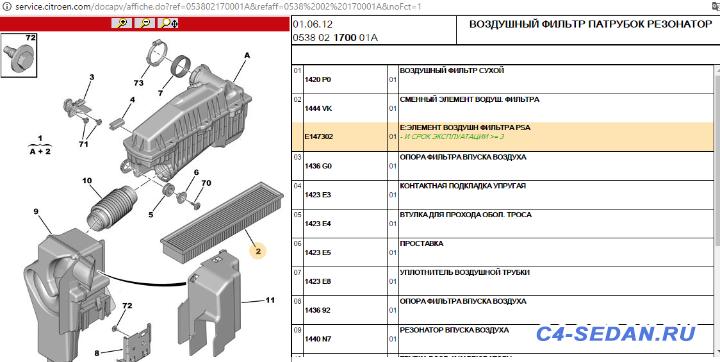 Воздушный фильтр 1444.VK для ЕС5  - C38ZWDAP.png