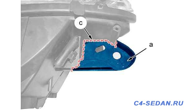 Фара головного света. Руководство по ремонту головной фары крепление  - 3-c5eh050d.jpg