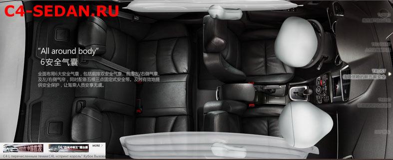Подушки безопасности Citroen C4 Седан